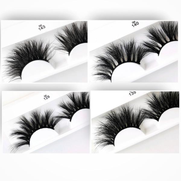 Handmade 5D Mink Eyelashes 25mm False Lashes Densed&Cross&Curling Strip Sexy Eyelashes Better Reusable Mink Extension Customized Packaging
