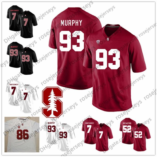 9efef54de 2019 NCAA Stanford Cardinal  7 John Elway Ty Montgomery 52 David DeCastro  70 Andrus Peat 93 Trent Murphy Red Black White Retired Football Jersey From  ...