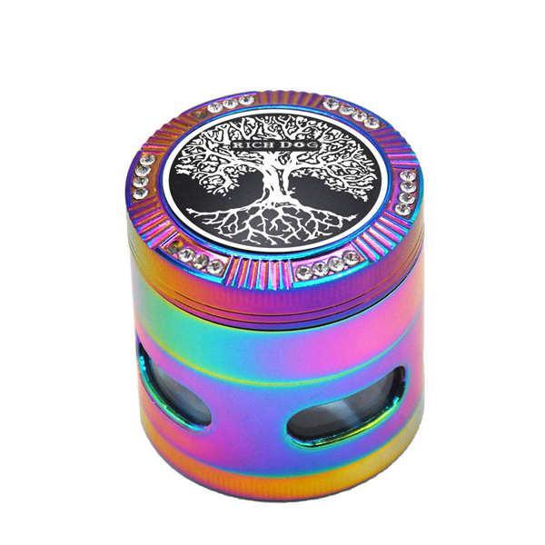 Цинковый сплав для курения Херб Grinder 50MM 4 шт Металл Табак Grinder дыма Измельчители для рук Ложка трубы Аксессуары