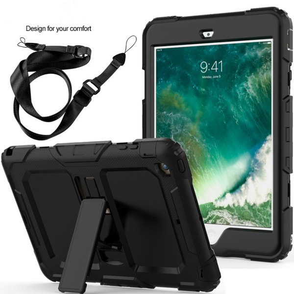 3 Layers Tablet Case for iPad Mini 1/2/3 Duty Shockproof Hand Shoulder Strap Kids Stand Case Cover for iPad Mini
