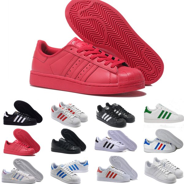 Adidas Superstar Smith Allstar 2019 Originales Superstar Blanca Holograma Iridiscente Junior Superstars 80 Orgullo Zapatillas Super Star Hombres