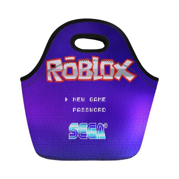 Lunchpaket Kühltasche für Kinder Isolierte Lunchbox Taschen 3D Roblox Spiele Picknick Mahlzeit Totebag Aufbewahrungsbox Sac für Frauen