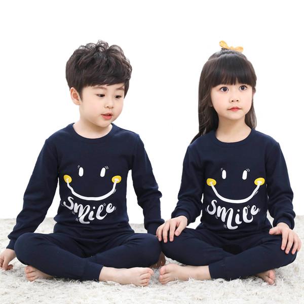 Manny Children's Long Sleeved Sleepwear Pajama For Girls Kids Long Johns Underwear Unicorn Cartoon Pajamas Kid Pajama For Boy J190520