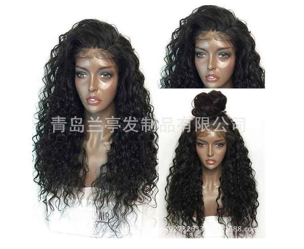 Brezilyalı gerçek saç perde Yaki düz hairwig moda Avrupa ve Amerikan peruk yerine