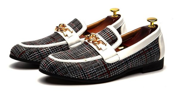Nouvelle mode hommes mocassins chaussures à la main confortables oxford chaussures à la main confortable Quinceanera net Prom grande taille: US 7-US 12 578