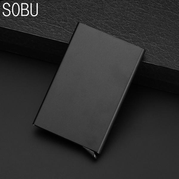 2018 nuevos hombres Mini identificación de la carpeta de metal bloqueo Mini Slim anti tarjeta RFID bloqueo H089 Holder