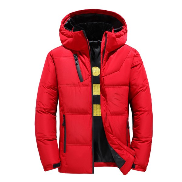 2019 Winter New Down Jacket Men White Duck Down Men Section Casual Thickening Warm Youth Men'S Hooded Down Coat 1897 MX191111