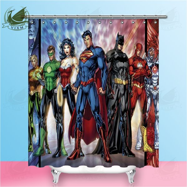 Vixm Superhero Batman American Style Movie Poster Shower Curtains Polyester Fabric Curtains For Home Decor