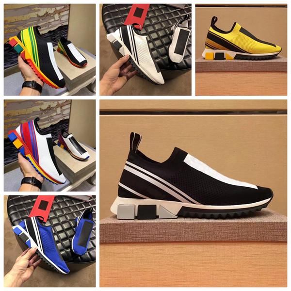 83551a4b1 Zapatos de diseñador Knit Trainer Sneaker Hombres Zapatos de diseño Moda Mujer  Zapatos casuales Zapatillas de
