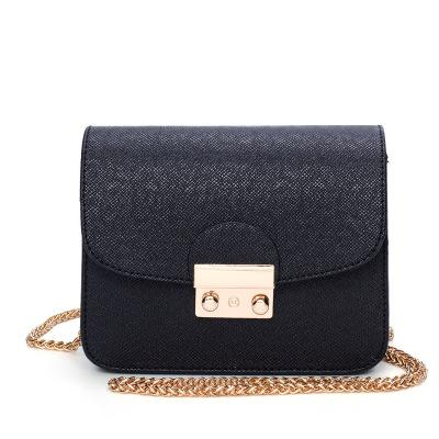 2019 PU Leather Women Messenger Bag Metal Lock Ladies Crossbody Bag Chain Trendy Candy Color Small Flap Shopping Handbag