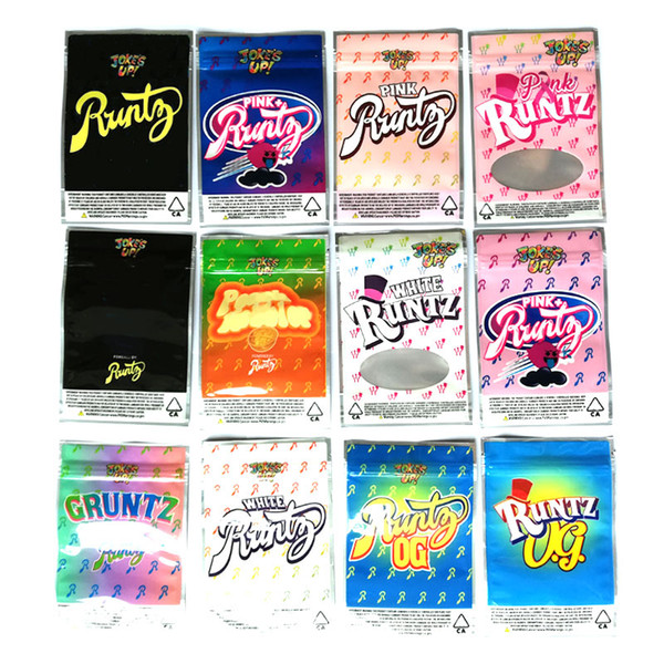 top popular Joke's UP! Runtz Package Ziplock Jokes Up Runts Mylar Bags Only Packaging Zipper Runty Pouch Pack 12 Types DHL Free 2020