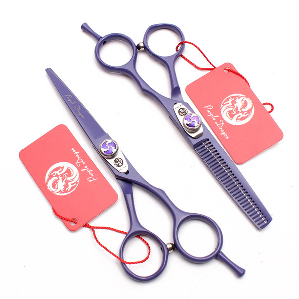 "Z1018 6"" 17.5cm Violet JP 440C Purple Dragon Brand Barber Scissors Hairdresser's Shears Cutting Shears Thinning Scissors Salon Hair Scissors"