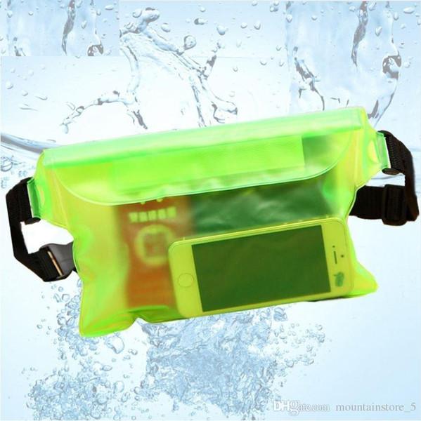 Dry Pack étanche extérieur piscine Dérivant Sac sec Pochette étanche PVC Taille téléphone couverture sac de rangement de protection (détail)
