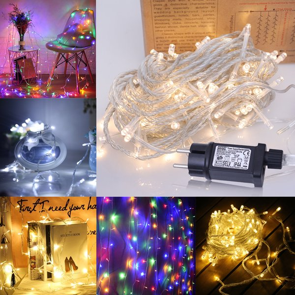 New 10M 20M 30M LED String Fairy Lights with 8 Modes 31V Low Voltage Transformer for Christmas Xmas Party Wedding etc Holiday Lighting