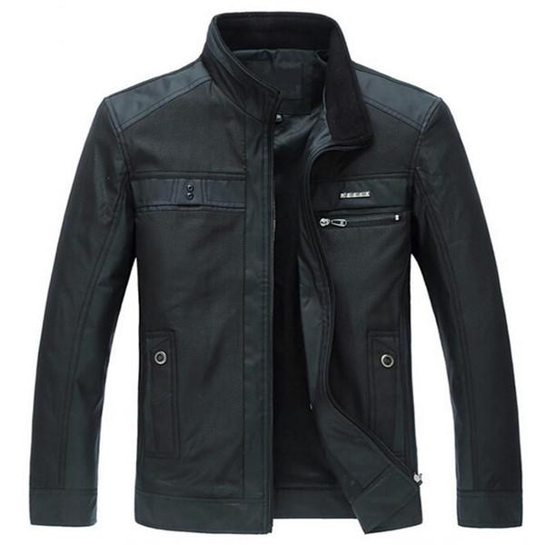 Men Jackets Spring Autumn New European Style Leisure Men's Jacket Long Sleeve Thin Business Men Coat 4XL Zipper Black Leisure