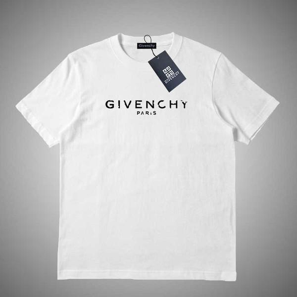 Givenchy 2019 son moda trendi tişört tee mens tişörtleri luxurys Mektup baskı tees yüksek kaliteli erkek kadın pamuk t-shirt