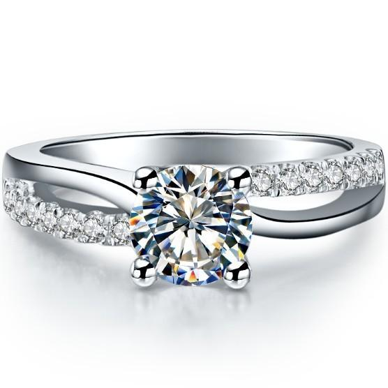 ing engagement Classic Jewelry 0.6Ct Round Cut Lab-Created Synthetic Diamonds Ring Engagement Pure 925 Sterling Silver Luxury Color Nice ...