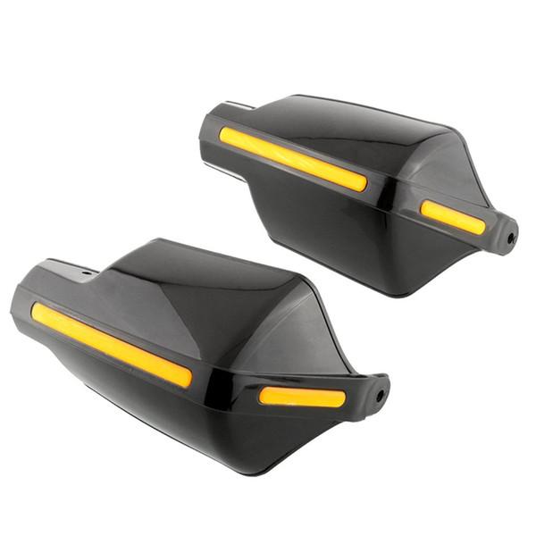 Par de motocicletas Protectores de mano 7/8 pulgadas 22 mm Manillar Guardamanos Mango Protector Bike Brush Wind Guard (Negro)