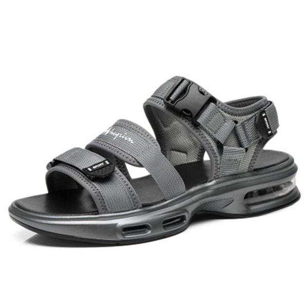 sandales griffées pour hommes noir et gris de haute qualité chaussures respirantes pour hommes sandales à coussin d'air
