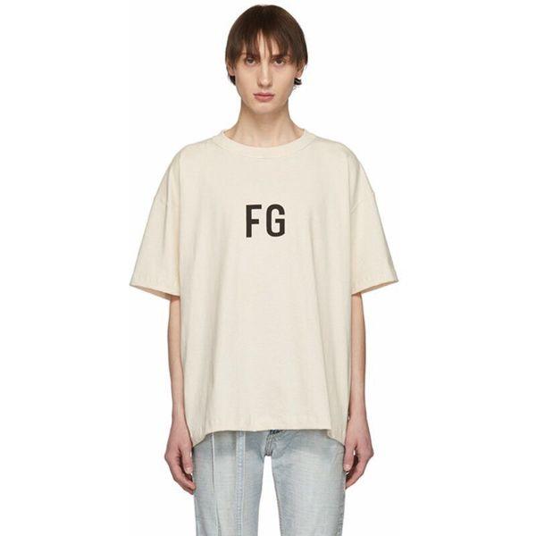 Mens Summer Designer FG Печати Футболки с круглым вырезом с коротким рукавом Популярные молодые люди Стиль Модная одежда
