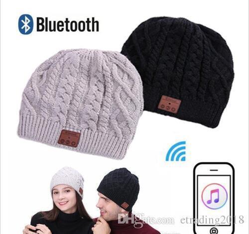 Morbido caldo Beanie senza fili Bluetooth Cap Hat Cuffia altoparlante Mic Stero vocale delle donne degli uomini