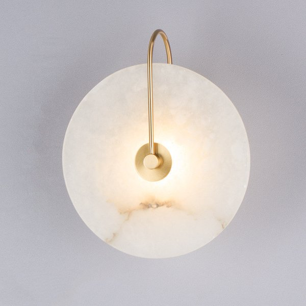 Modern Marble Led Wall Lamp Personality Home Wall Decoration 220v Bedside Bedroom Aisle Wall Sconce Surface Mount Free Shipping