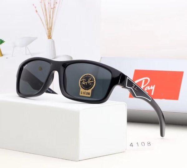 Erkek Cam Lens Tasarımcı Güneş Gözlüğü Moda Güneş Gözlüğü Adumbral Gözlüğü Araba Sürüş Gözlük UV400 Stil 4108 5 Renkler ile Yüksek Kalite kutu