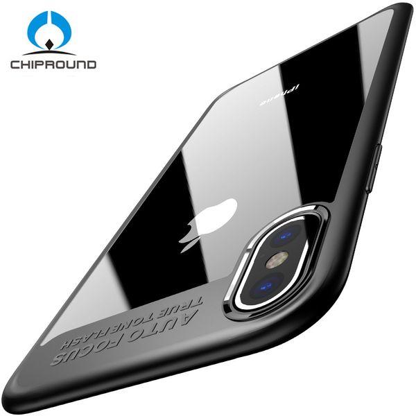 Полный защитный ТПУ PC Case для iPhone X Case акриловые Hard Clear тонкий тонкий задняя крышка для iPhone 6 6 S 7 8 8 плюс крышка телефона