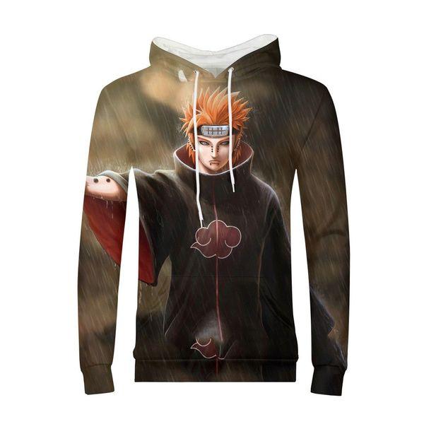 Anime Man Hoodies MINJA Naruto Uchiha Akatsuki Sweatshir Pullover Tracksuit Street Wear Harajuku Hoody Sudaderas Para Hombre