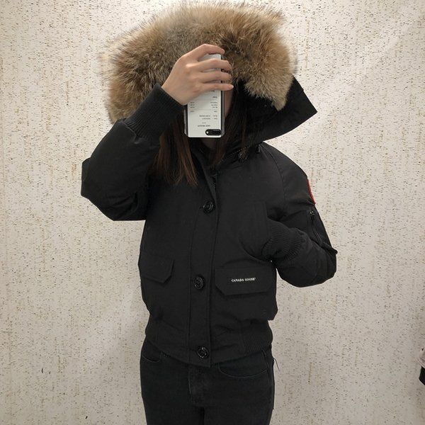 Men Parkas WINTER CANADA CHATEAU-4 GOOSE Down & Parkas WITH HOOD/Snowdome jacket Brand Real Raccoon Collar White Duck Outerwear & Coats