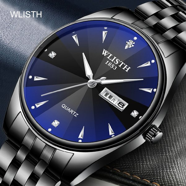 WLISHI Uhr Männer Reloj Mujer Luxus 3bar Relogio Masculino Fashion Casual Luxus Quarz Dual Display Wasserdicht Leuchtzeiger