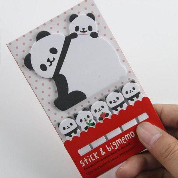 New 10 Sets/Lot Creative Sticker Mini Panda Shape Animal Sticky Notes Memo Pad Kid Children Gifts School Office Stationery Supplies