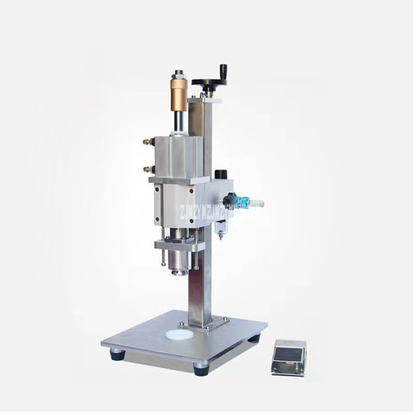DFS15 neumático Vial tapa de bloqueo de la máquina de la botella Capper inducción electromagnética Vial sellado de la máquina M5L / min 0,4 Kpa 15/18 / 22mm