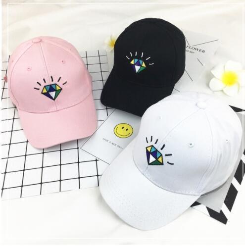 Stickerei justierbare Hysteresen-Baseballmütze-Diamant-Freizeit-Lichtschutz-Hip Hop-Baseballmütze-Lichtschutzhut 3 Farbe KKA4556