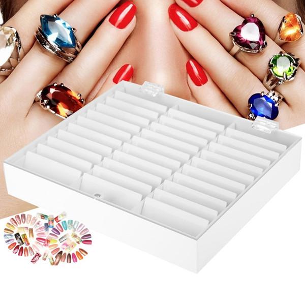 33 Grids vide Nail Art Boîte de rangement Porte cas ongles Manucure Bijoux poudre strass Boucles d'oreilles perles Container Outils ongles T200115