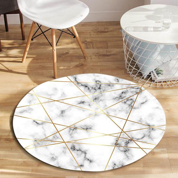 Nordic Coral Velvet Round Carpets For Lliving Room Bedroom Mat Computer Chair Area Rug Children Play Floor Mat Cloakroom