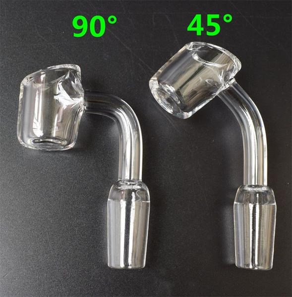 DHL 4mm Thick Club Smoking Bowl Quartz Banger Nail Domeless Honey Bucket 10/14/18mm Male Female Bowl Quartz Nail For Glass Bongs