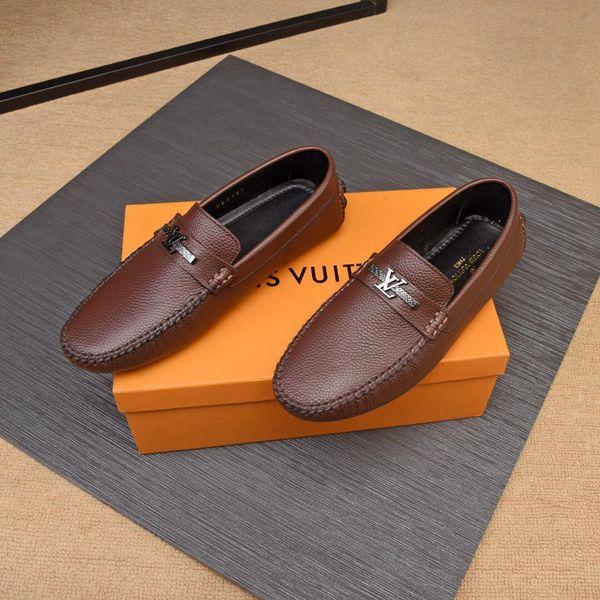 LISY7 Mocassin Metal Button Grey Size 38-45 With Box Block Platform Shoes Mens Dress Shoes Vintage Shoe Italian Wedding Shoes
