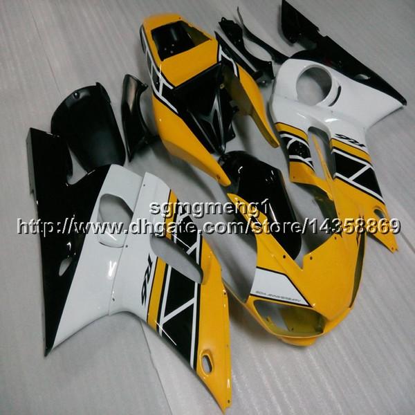 Botls + Gifts articolo moto giallo per Yamaha YZF-R6 1998 1999 2000 2001 2002 Carenatura motore in plastica ABS