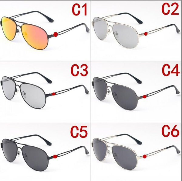 Summer new Metal 4054 Sunglasses UV400 polarized Lens Sports Sun Glasses Fashion Trend Cycling Eyewear Colors outdoor glasses with box