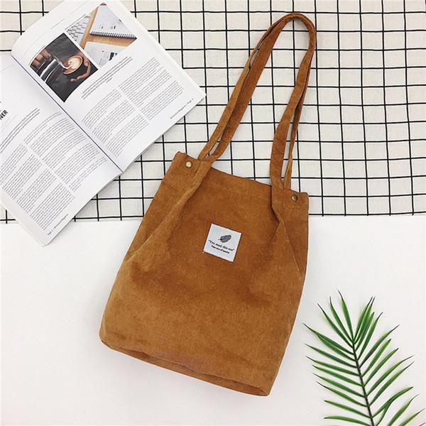 Litthing Женщины Сплошной Вельвет плеча сумки Хозяйственная сумка Tote пакет Crossbody сумки Сумочки Повседневная сумка для женщин