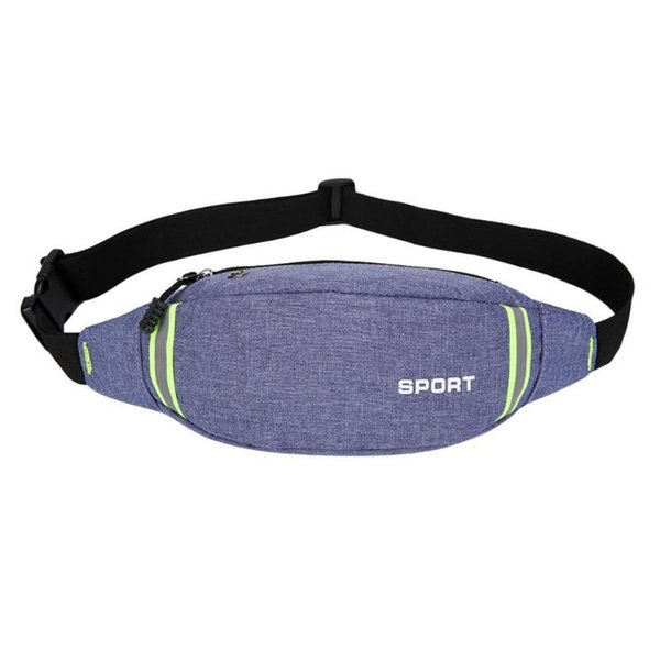 Fanny Pack Black Waterproof Money Belt Bag Men Purse Teenager's Travel Wallet Belt Male Waist Bags Women Sport Crossbody Bags