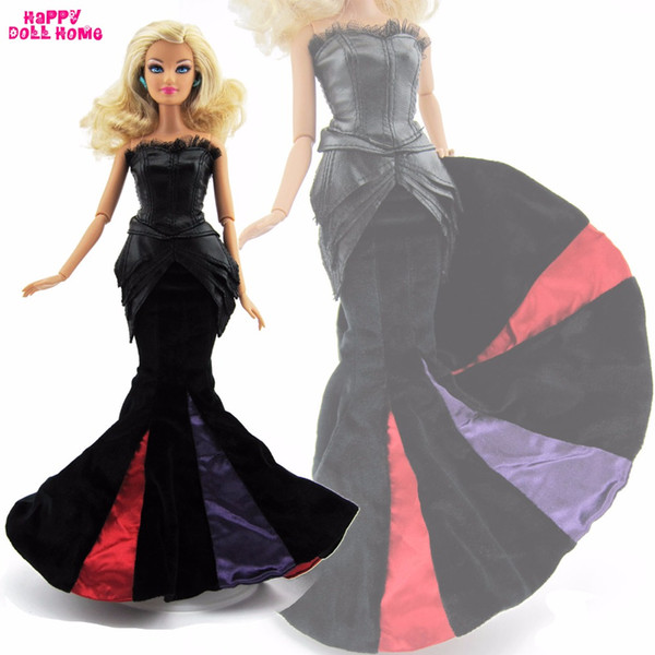 High Quality Handmade Dress Fashion Wedding Party Gown Evening Suit Fishtail Skirt Clothes For Barbie FR Doll Accessories Gift