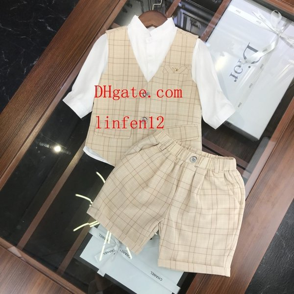 Kids Clothing Sets Two-piece Summer for Girls letter pattern Short Sleeve Cotton Pants Shorts Sportswear kids jogging tracksuits di-sn2