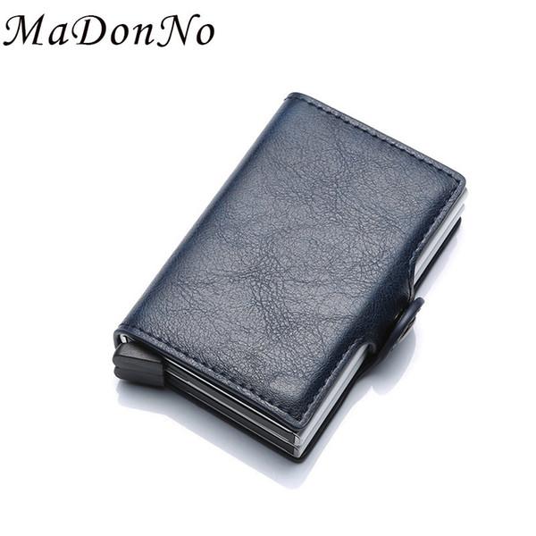 Rfid Wallet Men Money Bag Thin Mini Purse Male Metal Aluminium Card Wallet Magic Slim Small Smart Wallet For Men Vallet
