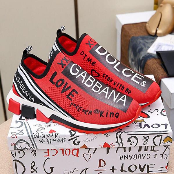 Stretch Mesh Sorrento scarpe da ginnastica con Scarpe da uomo Logo superiore traspirante Soft Air Footwears Low Top Uomini Slip-on scarpe da tennis con la scatola Origin