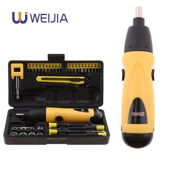 Mini Electric Screwdriver Battery Operated Cordless Screw Driver Drill Tool Set Bidirectional Switch With 36pcs Screws
