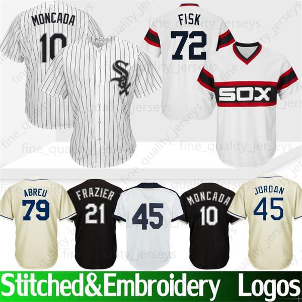 315c69e80 45 Michael Jersey Chicago White   Sox 8 Bo Jackson 72 Fisk 21 Todd Frazier  35