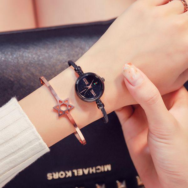 Reloj de pulsera de moda para mujer CHIC Starry Sky Bangle Relojes Señoras de lujo pequeño reloj de cuarzo 2019 Dropshipping