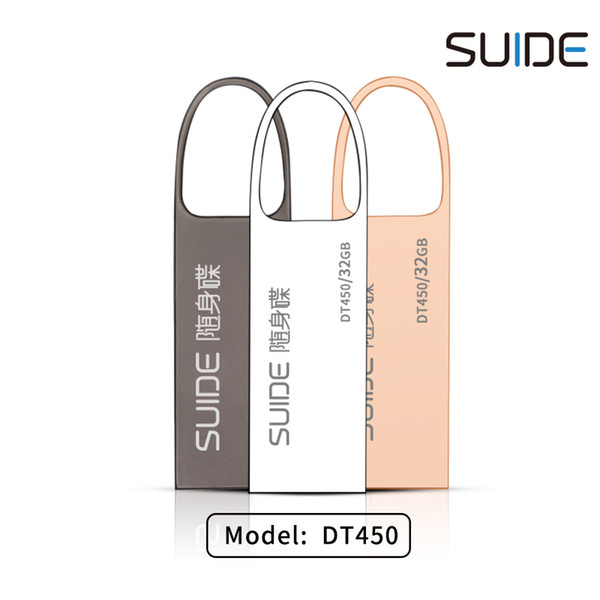 SUIDE DT450 portability usb flash drive exquist waterproof 4/8/16/32GB capacity simple style rose gold